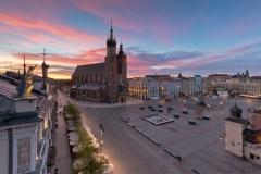 06 Kościół Mariacki, Rynek Główny, Wschód słońca