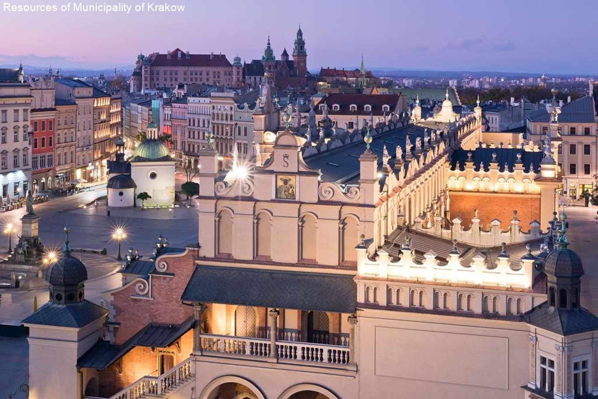 14 Sukiennice, Rynek Główny, Wawel, Noc