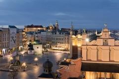 08 Noc, Sukiennice, Rynek Główny, Kościół św. Wojciecha, Grodzka, Pomnik Mickiewicza